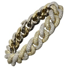 Sonia B Mixed Metals 8.74 Carat Round Diamond Chain Bracelets