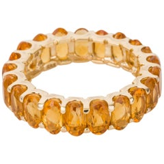Sonia Bitton Citrine Stacker 14 Karat Yellow Gold Band Ring - Size 5