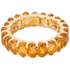 Sonia Bitton Citrine Stacker 14 Karat Yellow Gold Band Ring