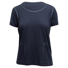 Sonia by Sonia Rykiel Navy Embellished T-Shirt