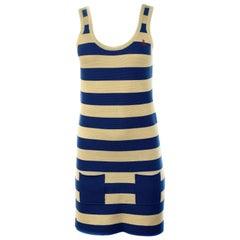 Sonia by Sonia Rykiel Sailor Ivory and Blue Tank Mini Dress Size M