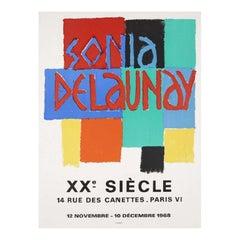 Sonia Delaunay Exhibition 1968 Original Vintage Poster
