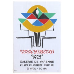 "Jacques Damase Sonia Delaunay Galerie De Varenne Poster ""1925"", circa 1975"