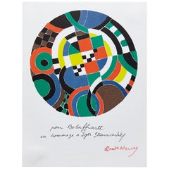 Sonia Delaunay, Geometric Abstraction, Red, Green, Blue, Yellow Photolithography