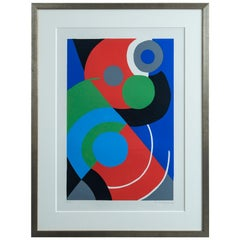 Sonia Delaunay Geometric Editioned Signed Lithograph