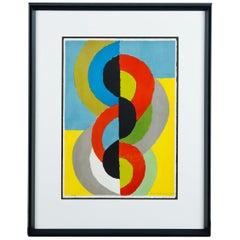 Sonia Delaunay Geometric Lithograph, 1962