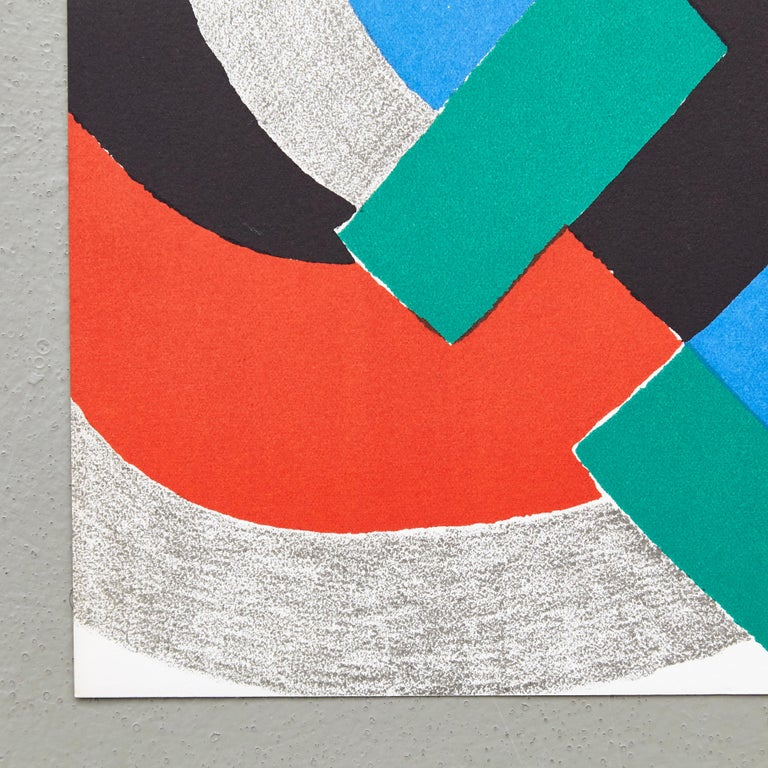 Mid-Century Modern Sonia Delaunay Lithography For Sale