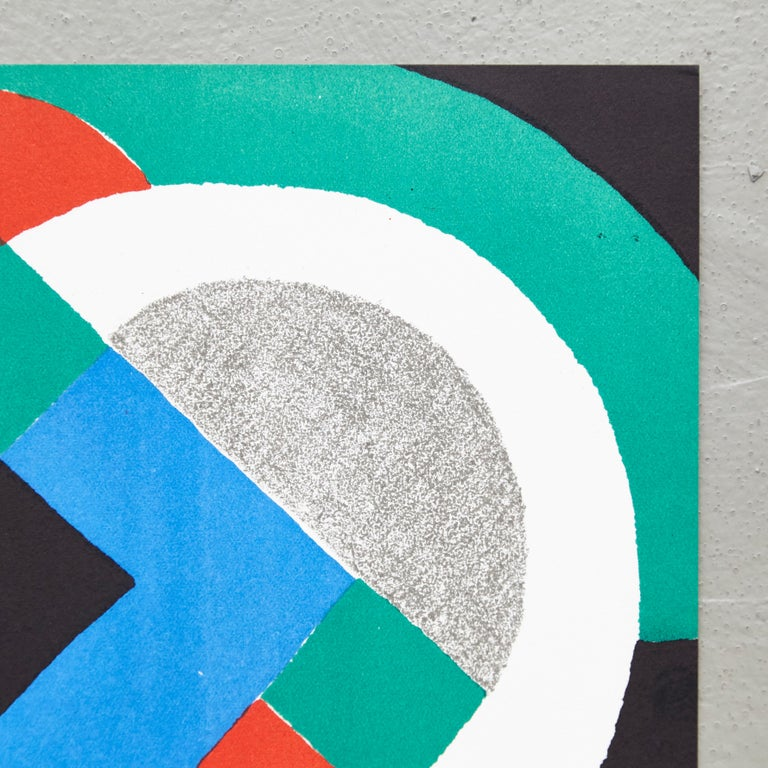 Sonia Delaunay Lithography In Good Condition For Sale In Barcelona, Barcelona