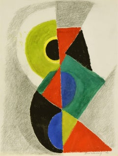 Rythme Couleur by Sonia Delaunay - Abstract Art, Oprhism, Gouache on paper