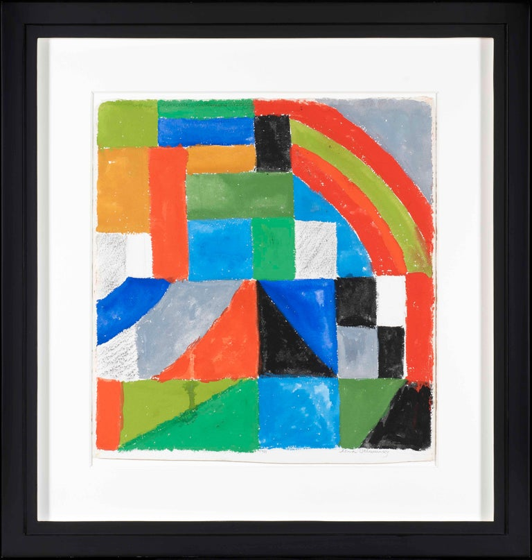 Rythme couleur - Sonia Delaunay, geometric, colors, abstract, original, modern - Modern Art by Sonia Delaunay
