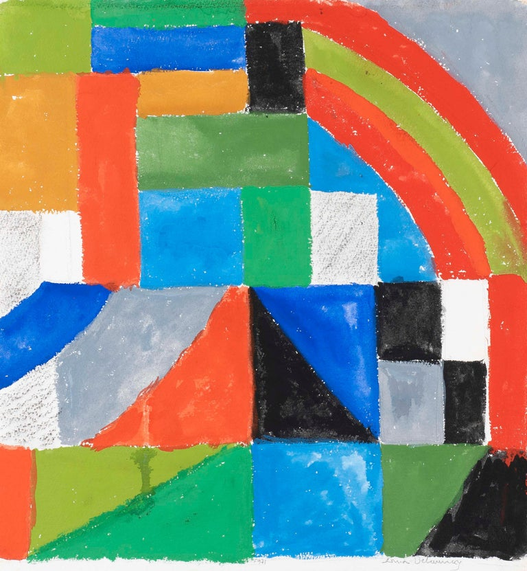 Rythme couleur - Sonia Delaunay, geometric, colors, abstract, original, modern - Art by Sonia Delaunay