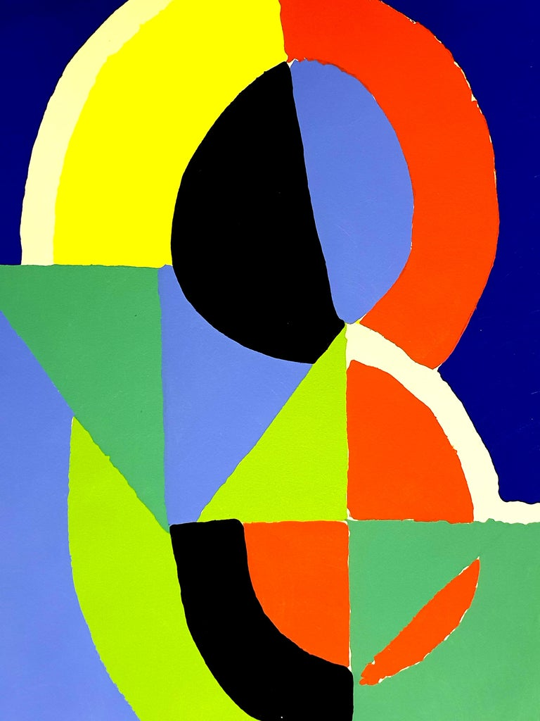 (after) Sonia Delaunay - Composition - Pochoir - Abstract Geometric Print by Sonia Delaunay