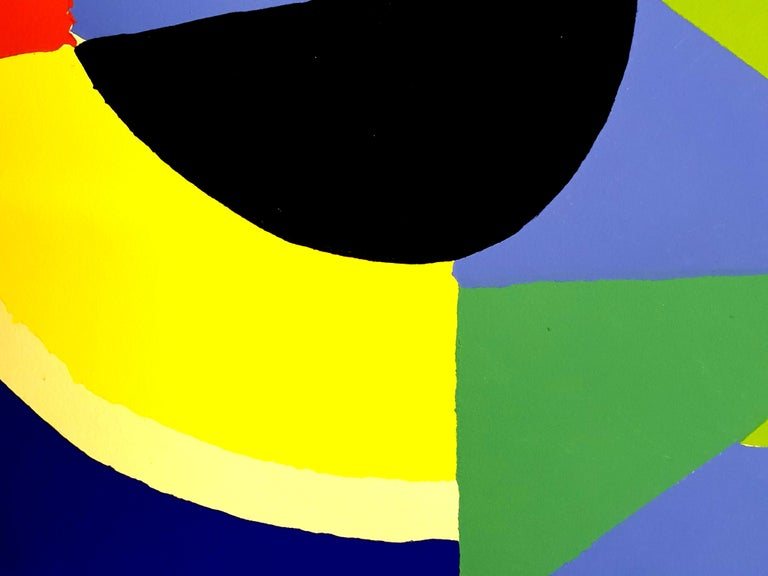 (after) Sonia Delaunay - Composition - Pochoir 1956 Dimensions: 32 x 25 cm Revue XXe Siècle  Cahiers d'art published under the direction of G. di San Lazzaro.  Sonia Delaunay was known for her vivid use of color and her bold, abstract patterns,