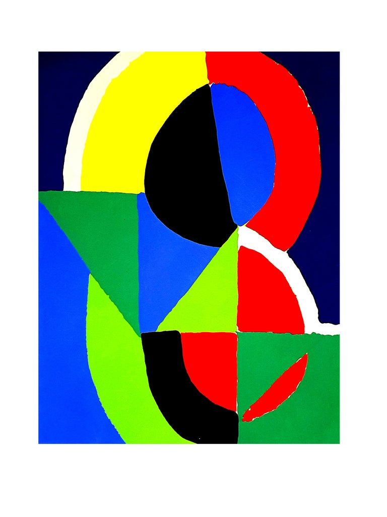 (after) Sonia Delaunay - Composition - Pochoir - Print by Sonia Delaunay