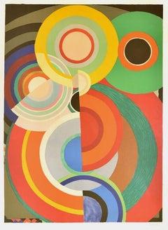 Automne - Original Lithograph by Sonia Delaunay - 1965 ca.