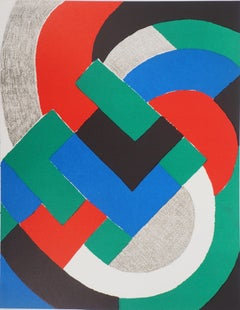 Composition in Green, Blue and Red - Original lithograph (Mourlot 1969)