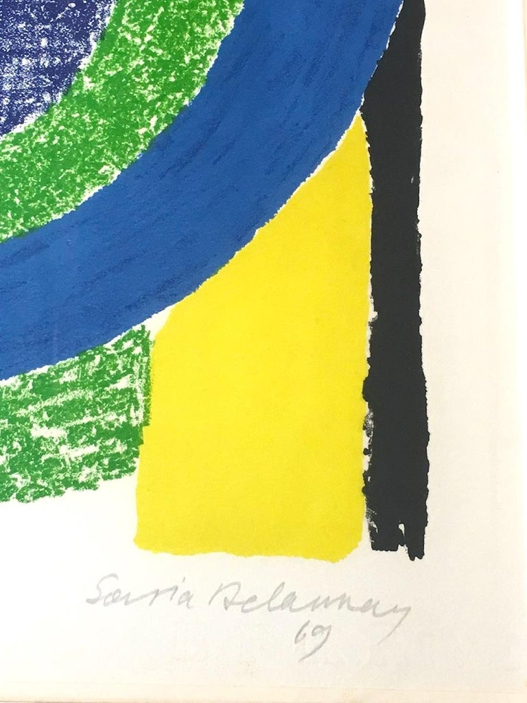 Composition - Original Lithograph by Sonia Delaunay - 1969 For Sale 1
