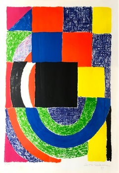 Composition - Original Lithograph by Sonia Delaunay - 1969