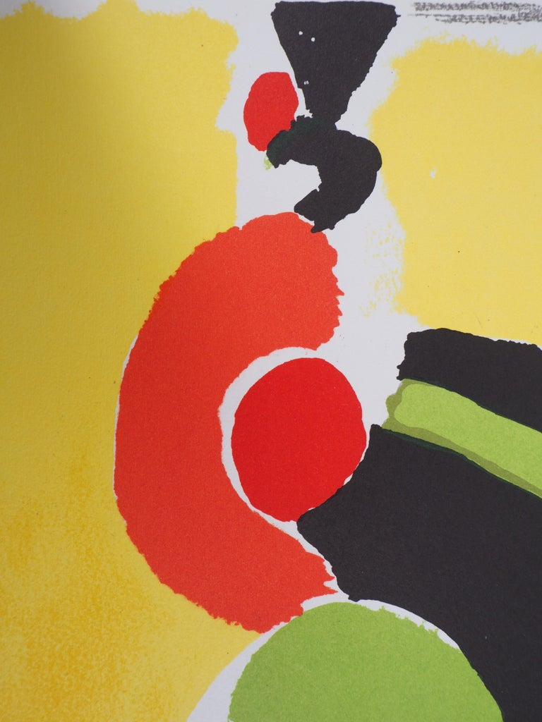 Flamenco : Spanish Dancer - Original lithograph (Mourlot 1972) - Abstract Print by Sonia Delaunay