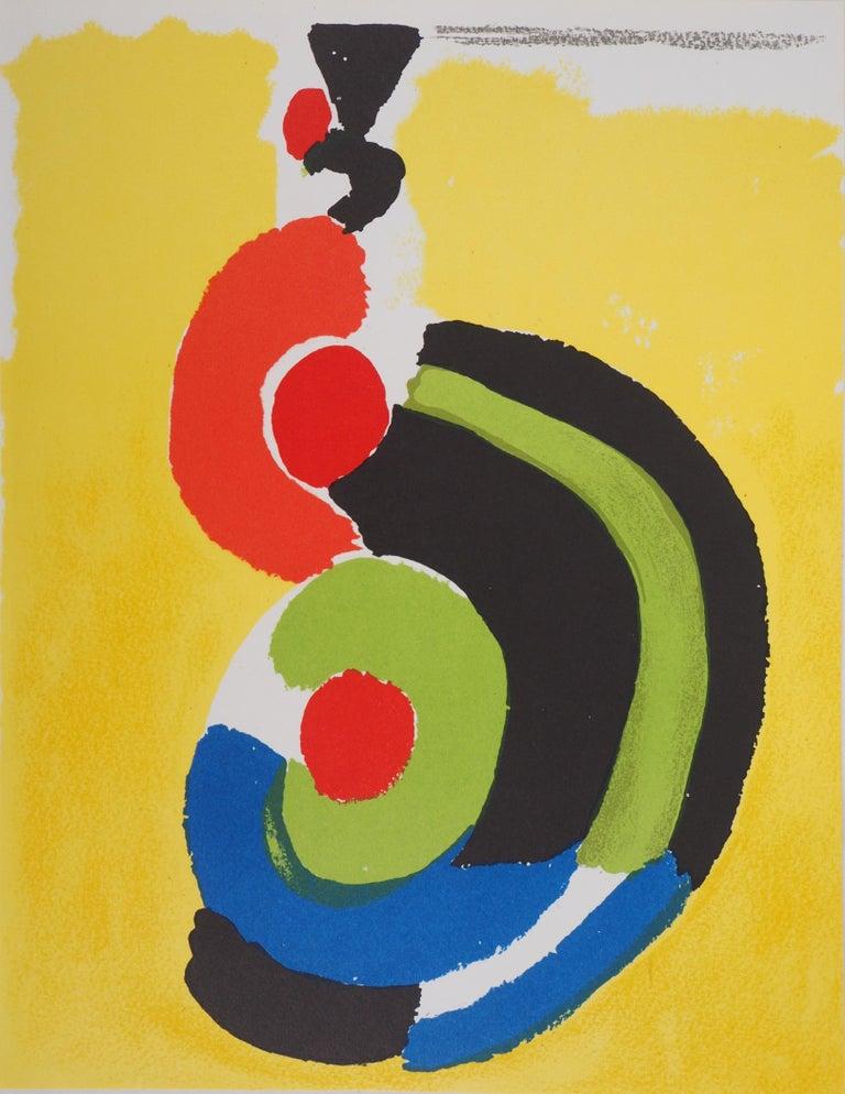 Sonia Delaunay Abstract Print - Flamenco : Spanish Dancer - Original lithograph (Mourlot 1972)