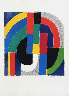 Geometric Composition - Original Lithograph Handsigned and Numbered