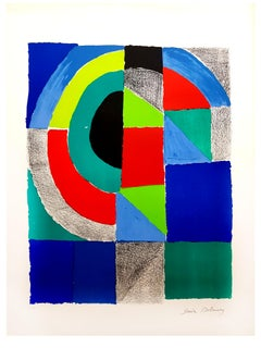 Sonia Delaunay - Colorful Composition - Signed Original Lithograph