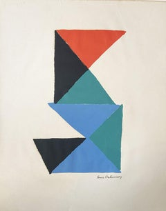 Sonia Delaunay  lithography  1969