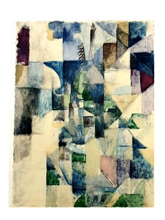 (after) Robert Delaunay - La fenêtre no. 2 - Pochoir