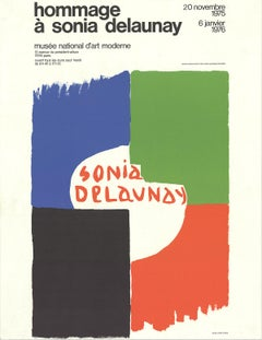 "Sonia Delaunay-Tribute to Sonia Delaunay-25.5"" x 19.75""-Lithograph-1975"