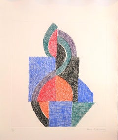 Untitled - Original Etching by Sonia Delaunay - 1966