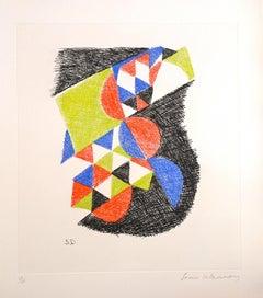 Untitled - Original Etching by Sonia Delaunay - 1966