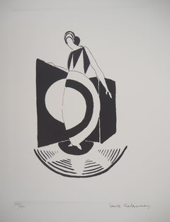 Woman with Art Deco Dress - Lithograph (Artcurial edition)