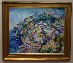 Positano, Italy, original post impressionist landscape