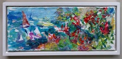 Summertime, original abstract marine landscape
