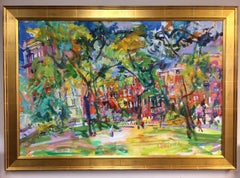 Washington Square Park, NYC original 32x48 post impressionist landscape
