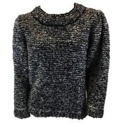 Sonia Rykiel Black and White Mohair Sweater NWT