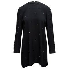 Sonia Rykiel Black Embellished Mini Dress