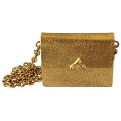 Sonia Rykiel Gold Tone Metal Mini Bag