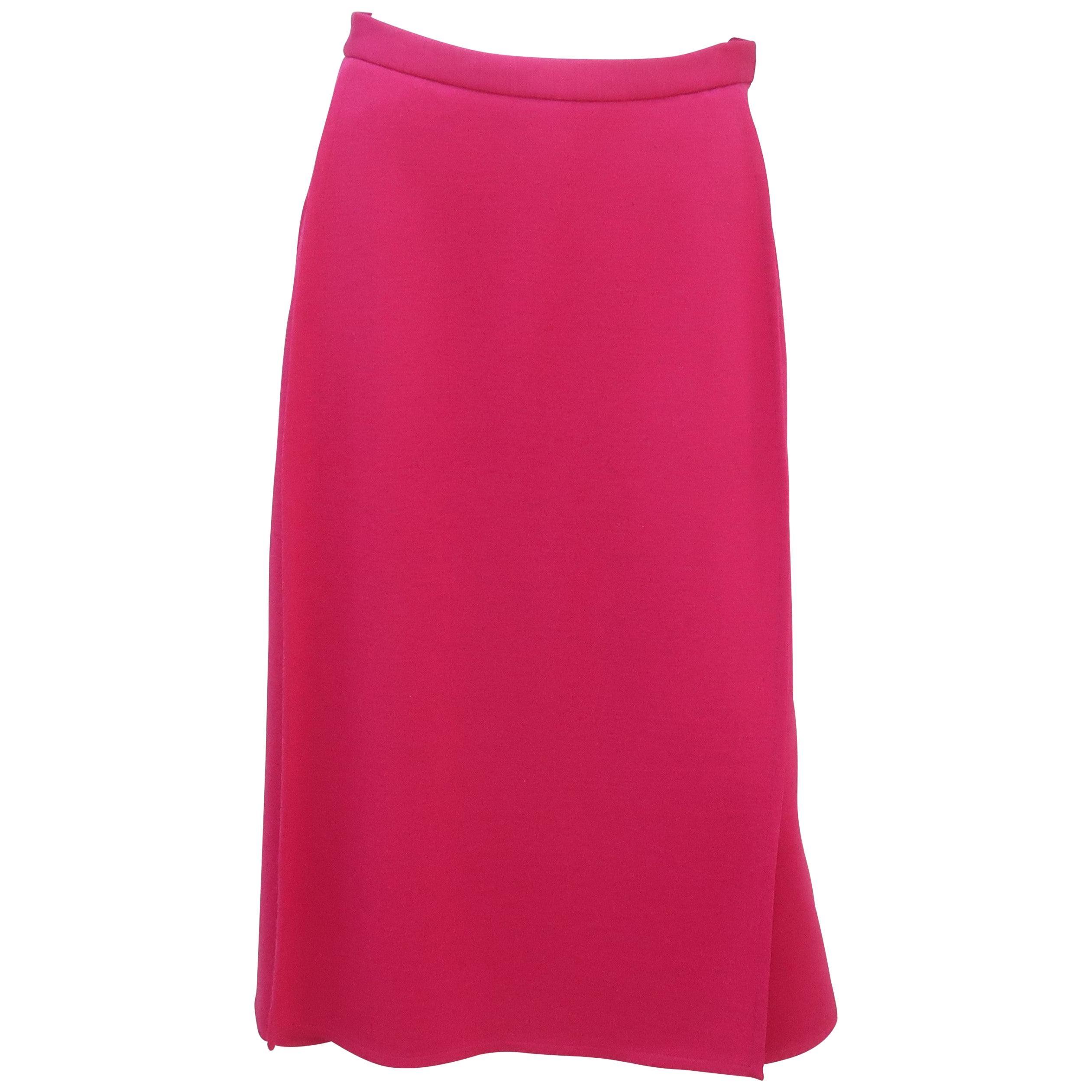 Sonia Rykiel Hot Pink Culottes Skirt, 1980's