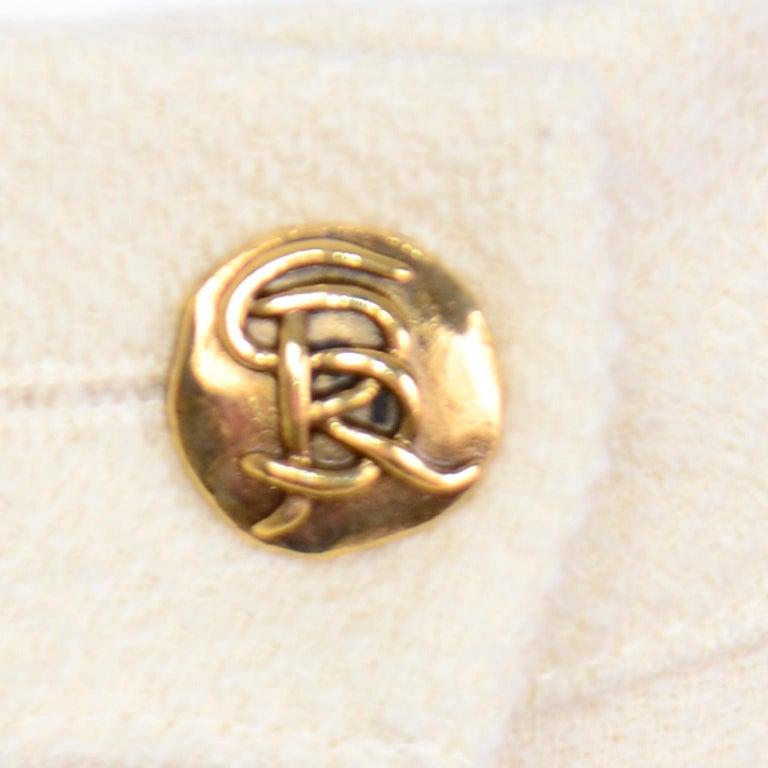 Sonia Rykiel Ivory Trouser Suit W Longline Blazer Jacket & High Waisted Pants For Sale 6