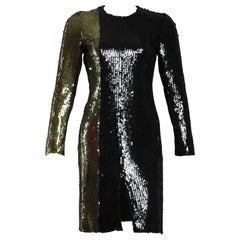 Sonia Rykiel Long Sleeve Sequin Dress
