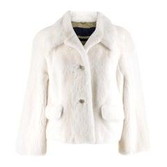 Sonia Rykiel Mink Fur Tailored Jacket SIZE 36