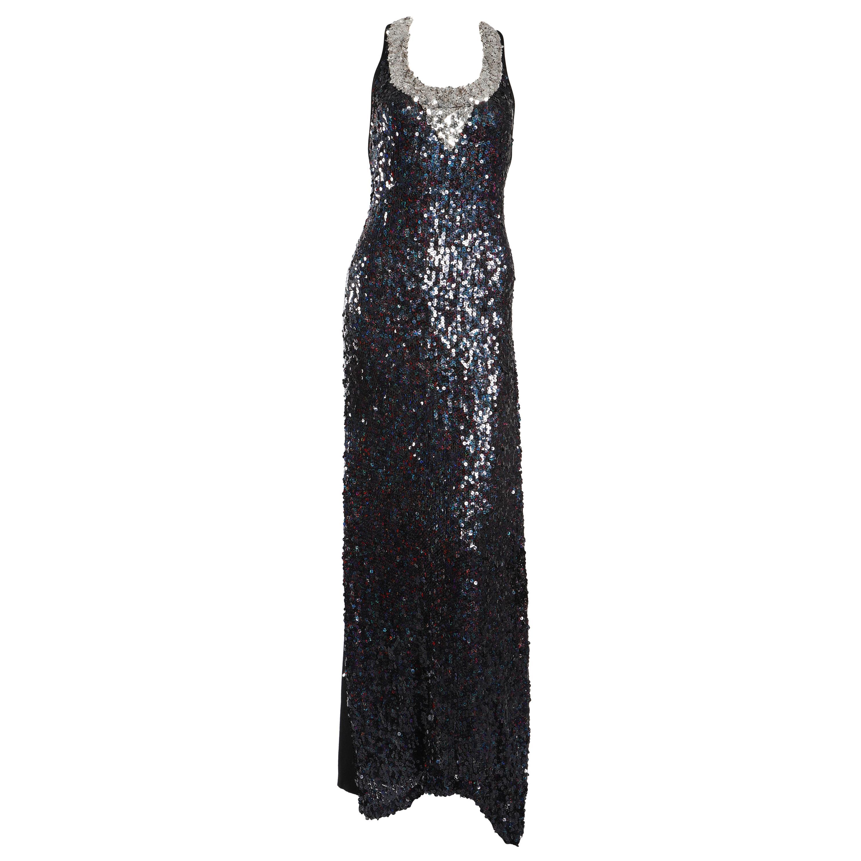 Sonia Rykiel Navy Sequin Gown