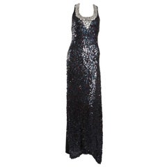 Sonia Rykiel Navy Sequin Gown