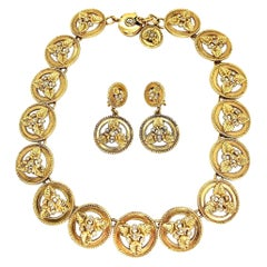 SONIA RYKIEL Necklace and Earrings Set Vintage 1990s