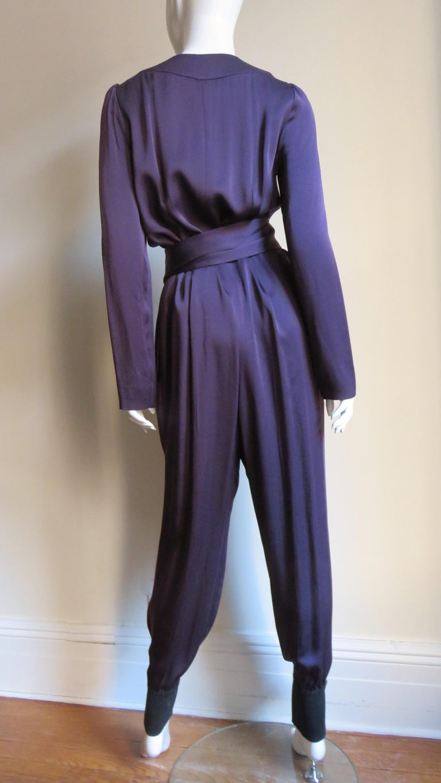 Sonia Rykiel New Silk Jumpsuit For Sale 8