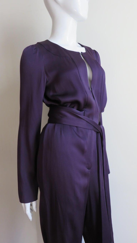 Sonia Rykiel New Silk Jumpsuit For Sale 2
