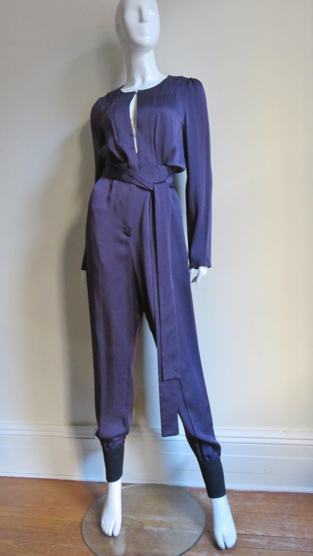 Sonia Rykiel New Silk Jumpsuit For Sale 3