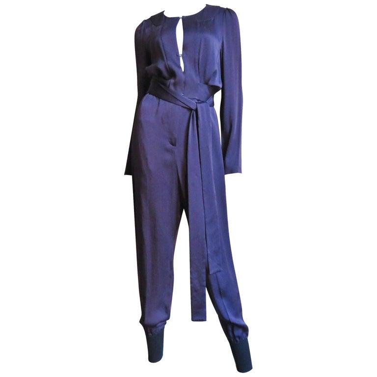 Sonia Rykiel New Silk Jumpsuit For Sale