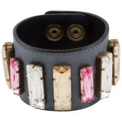 Sonia Rykiel Paris Pastel Jeweled Leather Belt Bracelet